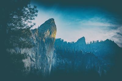 Yosemite Cathedral Spires Closeup