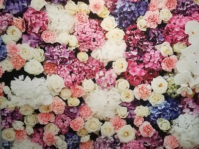 Lavender Flower Wall (Upgrade)