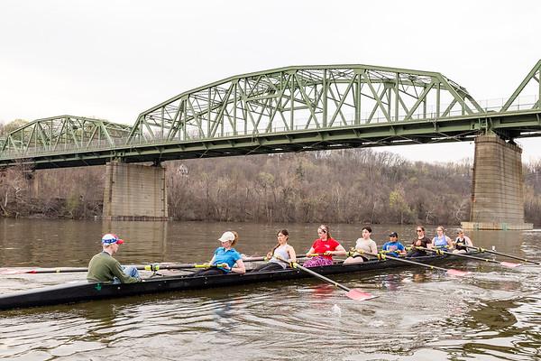 RPI Rowing Crew Practice