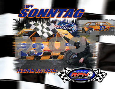 "JEFF SONNTAG   FEATURE WINNER ""BOMBERS  MARCH 26, 2010"