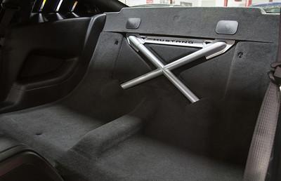 Ford Racing Ingot Silver Rear Seat Delete (P/N M-6346612-B-UX)