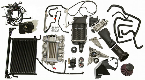"Phase 2 Mustang TVS R2300 Supercharger Unit (""exploded"" view)"