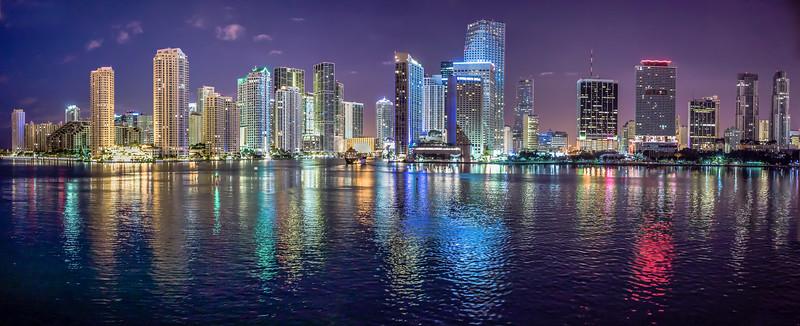 Miami Harbour at dawn, Florida