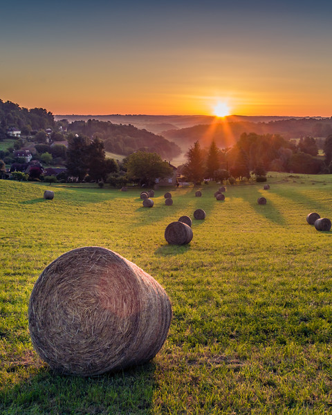 7. Sunrise over Sarlat, France