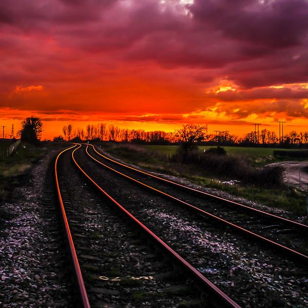 9. Sunset on the rails