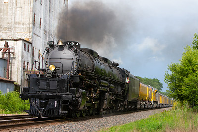 The Union Pacific 4014 Big Boy locomotive seen on July 16, 2019 in Ames, Iowa. Photo © Wesley Winterink.