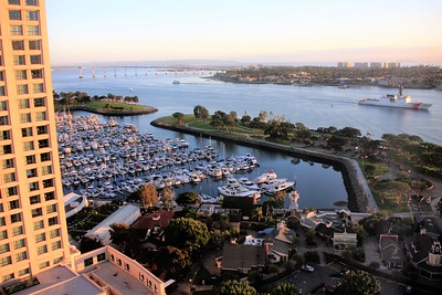 View of Marriot Marina and San Diego Bay from my room