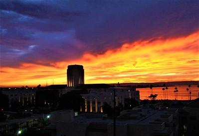 San Diego County Administration from my condo balcony