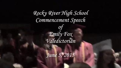 RRHS Class of 2015 Graduation Speech - Emily Fox