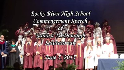 RRHS Class of 2015 Graduation Speech - Monica McDonough