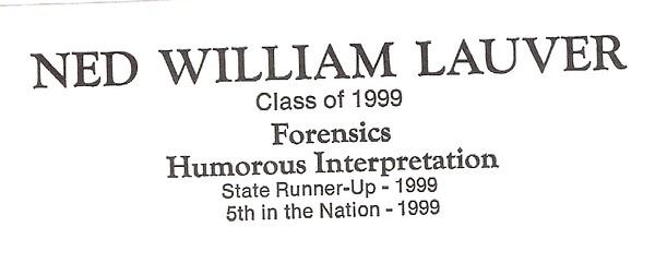 Lauver, Ned William - info
