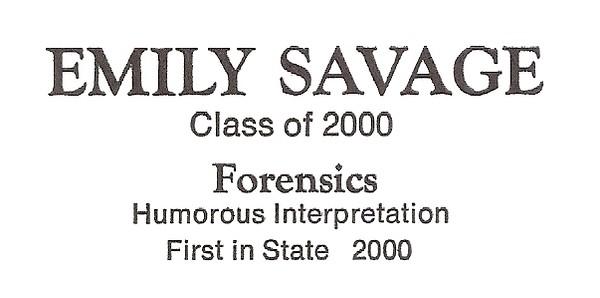 Savage, Emily - info