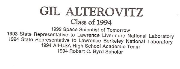 Alterovitz, Gil - info