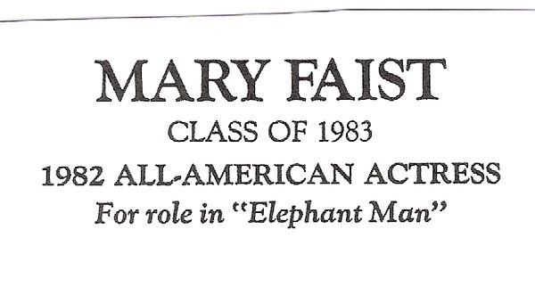 Faist, Mary - info