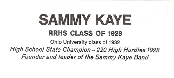Kaye, Sammy - info