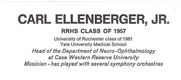 Ellenberger, Carl Jr - info
