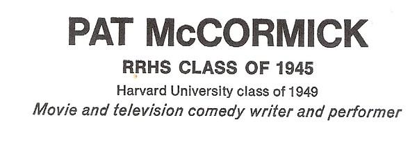 McCormick, Pat - info