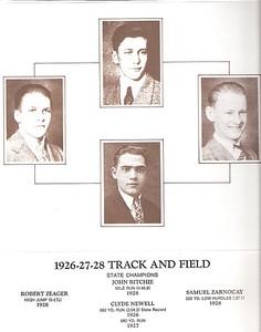 1926-27-28 Track Boys - Newell, Clyde - Ritchie, John - Zarnocay, Samuel - Zeager, Robert - info
