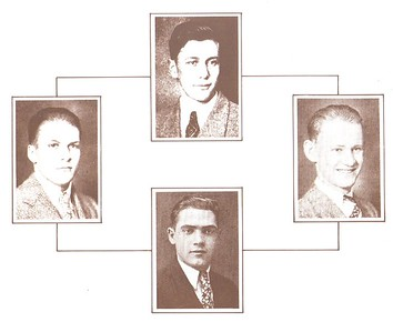 1926-27-28 Track Boys - Newell, Clyde - Ritchie, John - Zarnocay, Samuel - Zeager, Robert