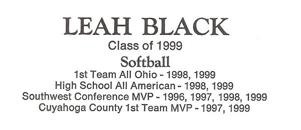Black, Leah - info