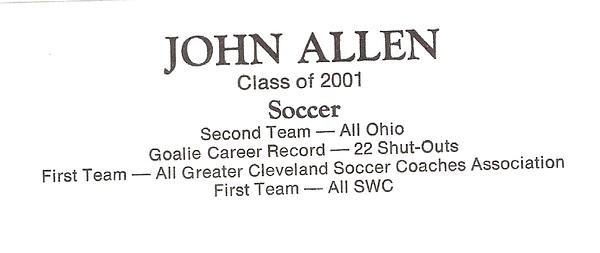Allen, John - info