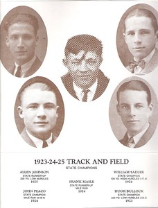 1923-24-25 Track - Bullock, Hugh - Johnson, Allen - Masle, Frank - Peaco, John - Sadler, William - info