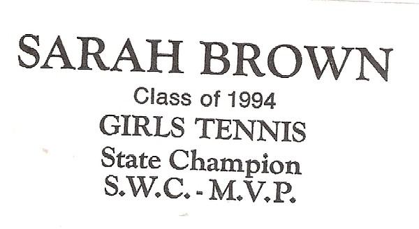 Brown, Sarah - info