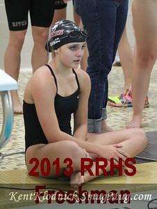 2014-01-14 RRSWIM vs Amherst 600b Freshman Laura Banks