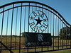 Entrance gate to BNB Ranch welcomes RROC TX