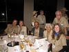 At the opening dinner.  Note tour shirts.  Jim, Joy, John, Beryal, Anne & Sneed