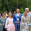 Eileen, Bonnie, Kelly, Laura & Bill appropriately dressed for the opening banquet.