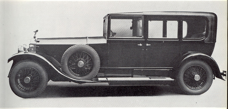 This Rolls-Royce (RR) Chassis No. is 88WR delivered from RR to Barker (coach body builder) in Jan 1929.  Thus the car is a 1929 RR Phantom I (one).  This PI 88WR was ordered by an Austrian Baron, by the name of Sisinio von Pretis-Cagnodo. He was a Minister and Freiherr (a local administrator). The Baron cancelled his order because on April 9th 1929, the car was bought by William Mellersh-Jackson (UK)