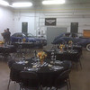 Dinner in the garage.  A car nuts ultimate dining experience.