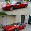 A few red Ferraris.  Bottom one is a 1980 308