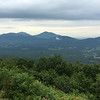 Sharp Top and Flat Top Mountains in Bedford Co. as seen from 8 miles away at an overlook along the Parkway.