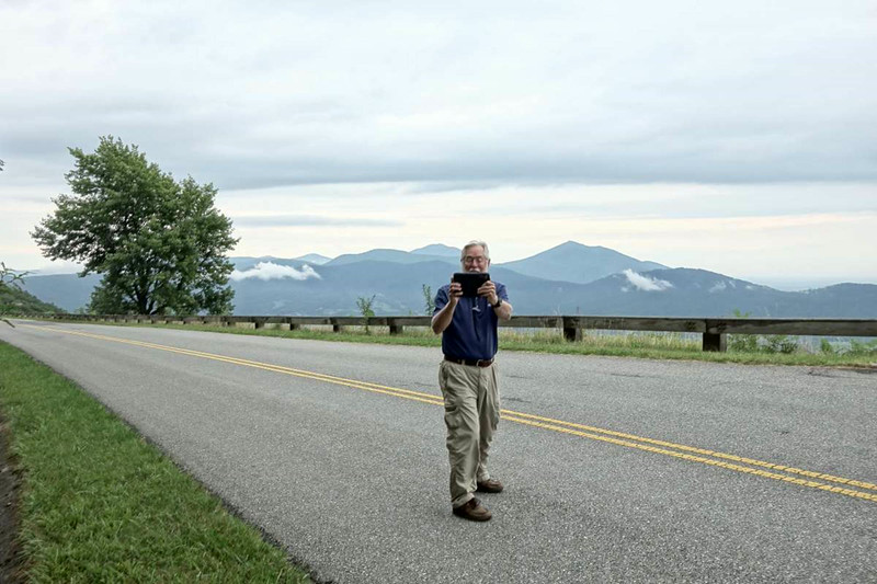Shooting each other at an overlook on the Blue Ridge Parkway