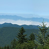 Why they call them the Smoky Mountains - overlook on the Blue Ridge Parkway