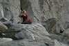 Taking PICs when not climbing.  Stan, Stephanie's husband, took this PIC of me while I documented her climb.