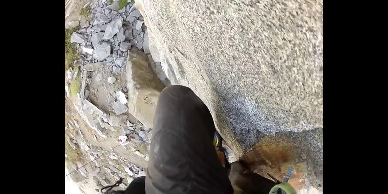 Belaying Rich while he takes a GoPro of this nice warm-up route 5-19-12