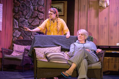 Robidoux Resident Theater's production of Vanya, Sonia Masha, Spike at the Ruby Theater, St. Joseph, Mo., March 3, 2019. Patrick Evenson | Coverage Photography