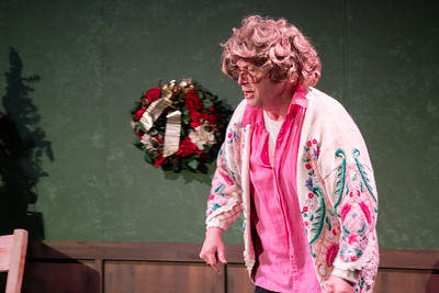 """""""Tuna Christmas"""" preformed by Robidoux Resident Theater at the Ruby Theater in St. Joseph, Missouri, December, 2019. (Photo by Patrick Evenson)"""