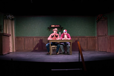 """Tuna Christmas"" preformed by Robidoux Resident Theater at the Ruby Theater in St. Joseph, Missouri, December, 2019. (Photo by Patrick Evenson)"