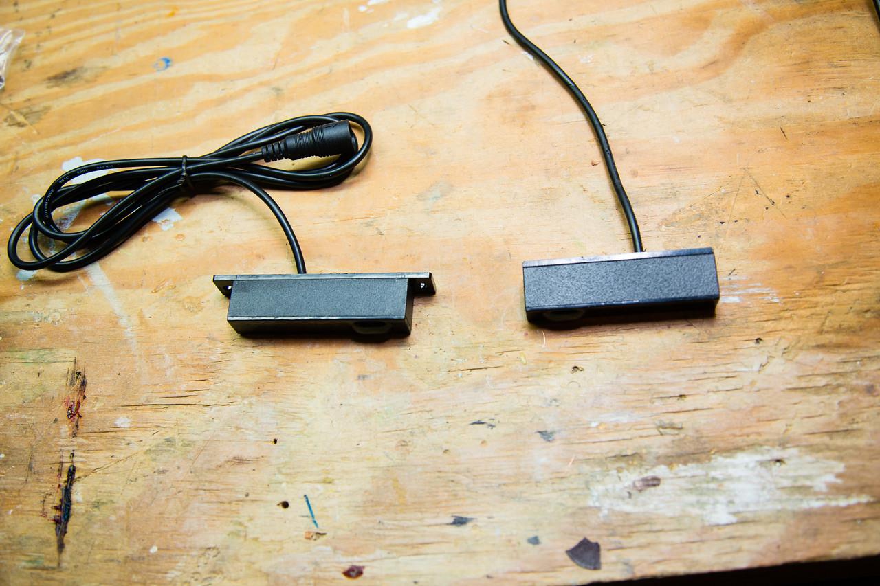 Cut off ends of plastic sensor mount.