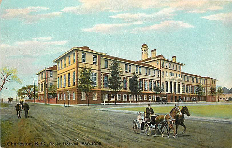 The New Roper Hospital, which became the 'Old Roper'. It is now the Roper Parking building on Jonathan Lucas Street, used to be Barre...