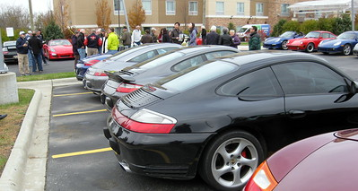 More than forty Porsches gathered for this last Rally Sport Region drive.