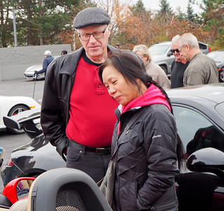 Jian Ping & Michael McKelvey admire the cars.