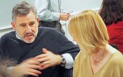 Sebastian Gaeta has a discussion with .....