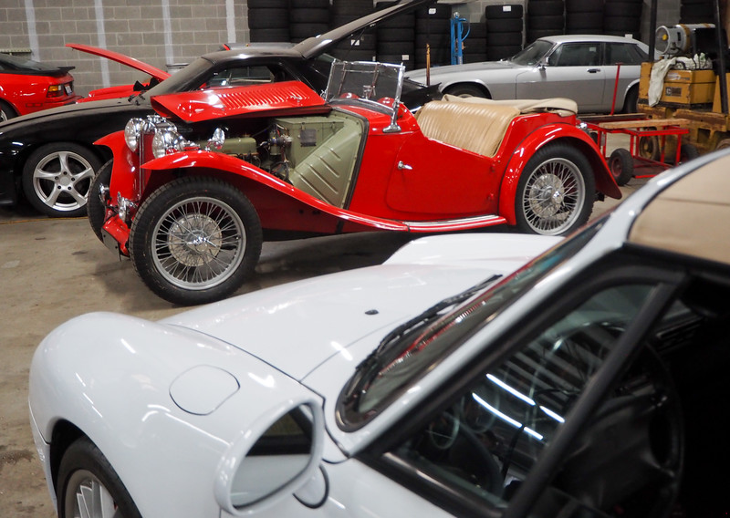 A beautiful MG-T for us to look at.