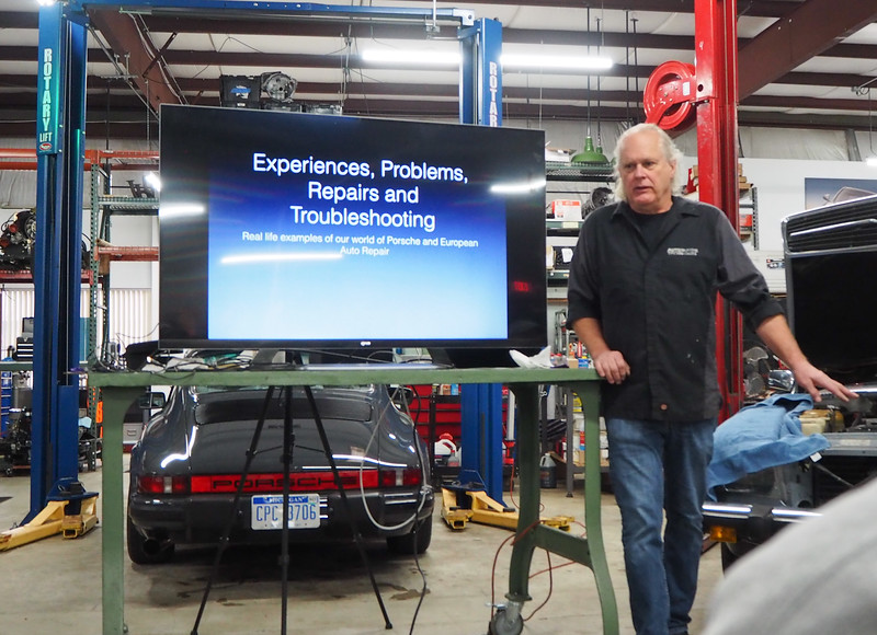 "Tim used a recent experience with a 1976 Mercedes Benz ""no start"" situation to illustrate the trouble shooting process."