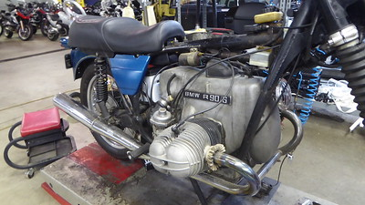 A classic BMW boxer motor.